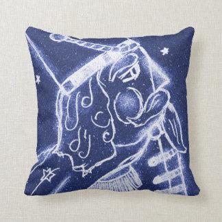 NUTCRACKER TOY SOLDIER in Light Blue Throw Pillow