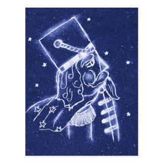 NUTCRACKER TOY SOLDIER in Light Blue Postcard