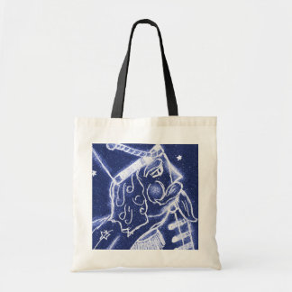 NUTCRACKER TOY SOLDIER in Light Blue Tote Bag