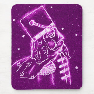NUTCRACKER TOY SOLDIER in Magenta Mouse Pad