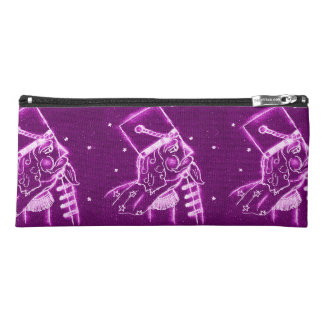 Nutcracker Toy Soldier in Magenta Pencil Case