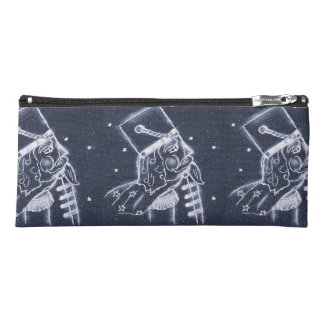 Nutcracker Toy Soldier in Medium Blue Pencil Case