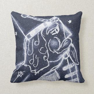 NUTCRACKER TOY SOLDIER in Medium Blue Throw Pillows