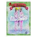 Nutcracker-Two Young Ballerinas Talking-341 Greeting Card