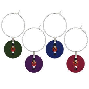 nutcracker wine charms - Christmas Wine Charms