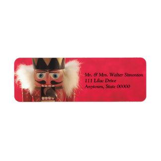 Nutcracker with acorn Christmas Custom Return Address Label