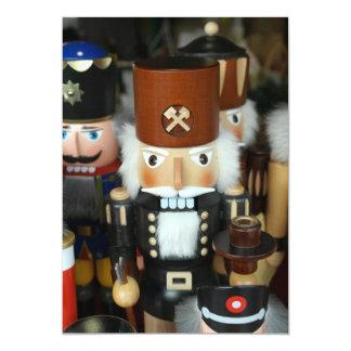 Nutcrackers Christmas Holiday Xmas Design 5x7 Paper Invitation Card
