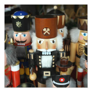 Nutcrackers Christmas Holiday Xmas Design 5.25x5.25 Square Paper Invitation Card