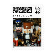 Nutcrackers Christmas Holiday Xmas Design Postage Stamp