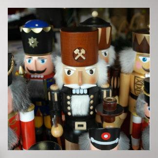 Nutcrackers Christmas Holiday Xmas Design Poster