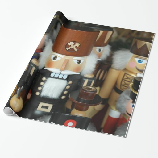 Nutcrackers Christmas Holiday Xmas Design Wrapping Paper
