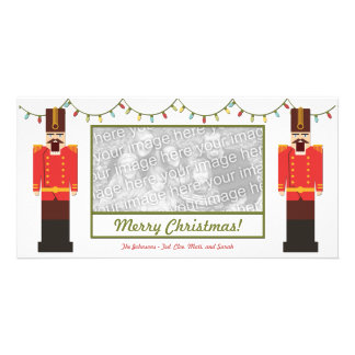Nutcrackers, Merry Christmas, Photo Card Template