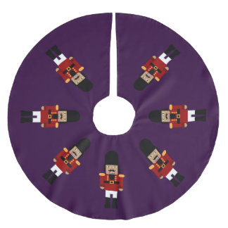 Nutcrackers (Purple Background) - Tree Skirt
