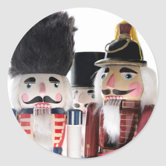 nutcrackers round stickers