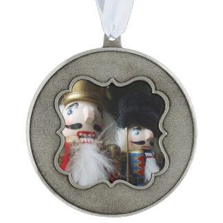 Nutcrackers scalloped ornament