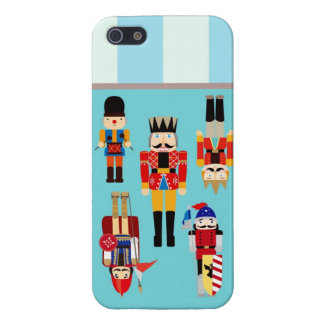 Nutcrackers Soldiers with Custom Name - Aqua Cover For iPhone SE/5/5s