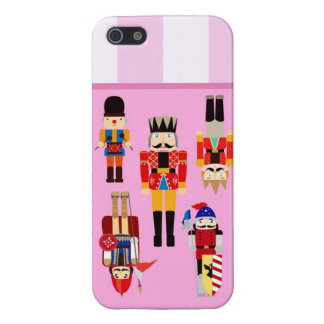 Nutcrackers Soldiers with Custom Name - Pink Cover For iPhone SE/5/5s