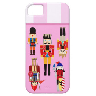 Nutcrackers Soldiers with Custom Name - Pink iPhone SE/5/5s Case