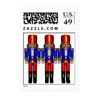nutcrackers traditional  Seasons Greetings Stamps