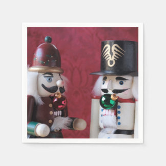 Nutcrackers with ornaments paper napkin