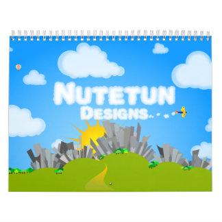 Nutetun designs calendar