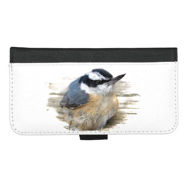 Nuthatch Bird iPhone 8/7 Plus Wallet Case