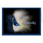 Nuthatch Bird Sympathy -customize any occasion Card