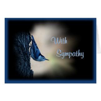 Nuthatch Bird Sympathy or any occasion Greeting Card