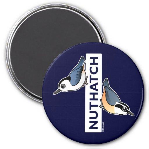 Nuthatch Fan 3 Inch Round Magnet