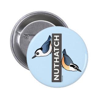Nuthatch Fan Button
