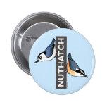 Nuthatch Fan Buttons