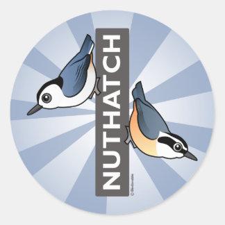 Nuthatch Fan Round Stickers