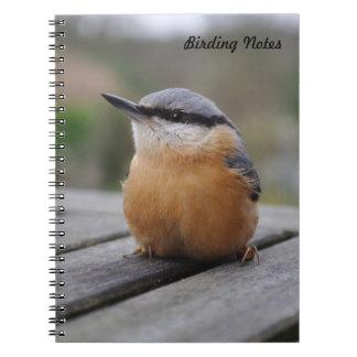 Nuthatch photo spiral notebook