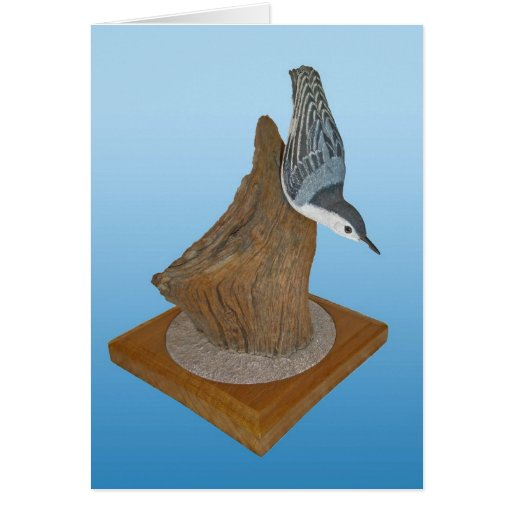Nuthatch Woodcarving Note Card