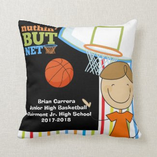 Nuthin But Net Basketball Personalized Pillow
