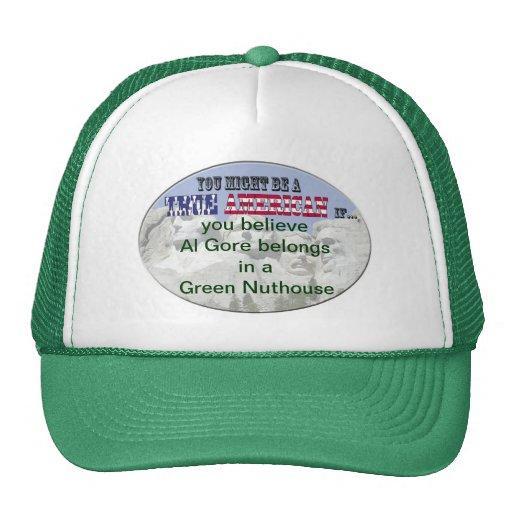 Nuthouse verde de Al Gore Gorros Bordados
