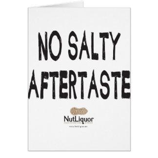 NutLiquor ningún regusto salado Felicitacion
