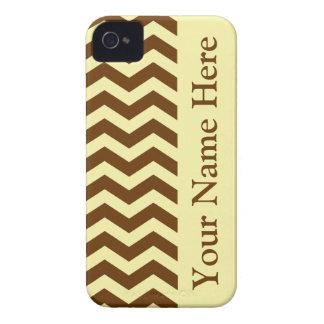 Nutmeg Cream Neutral Chevrons iPhone 4 Case-Mate Cases