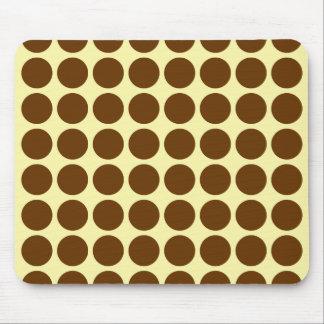 Nutmeg Cream Neutral Dots Mouse Pad