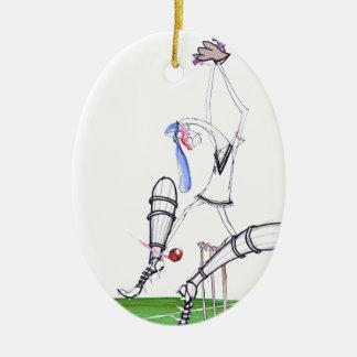 nutmeg - cricket, tony fernandes ceramic ornament