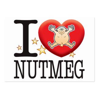 Nutmeg Love Man Large Business Card