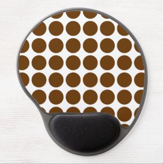 Nutmeg Mocha Neutral Dots Gel Mouse Pad