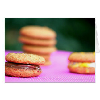 Nutmeg-Molasses Sandwich Cookies Stationery Note Card