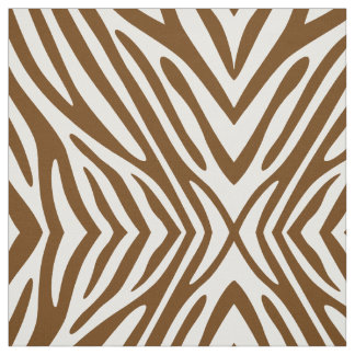 Nutmeg Neutral Zebra Fabric