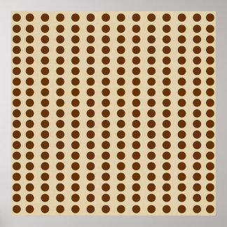 Nutmeg Spice Moods Dots Poster