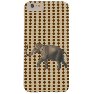 Nutmeg Spice Moods Dots with Elephant Barely There iPhone 6 Plus Case