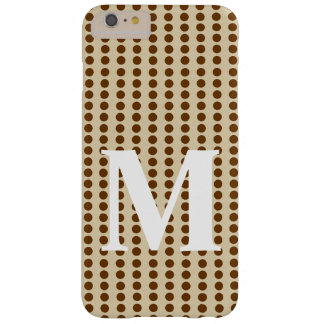 Nutmeg Spice Moods Dots with monogram Barely There iPhone 6 Plus Case
