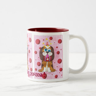 Nutmeg the dog I'm not a morning person ! Two-Tone Coffee Mug