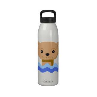 Nutria de la natación botellas de agua reutilizables