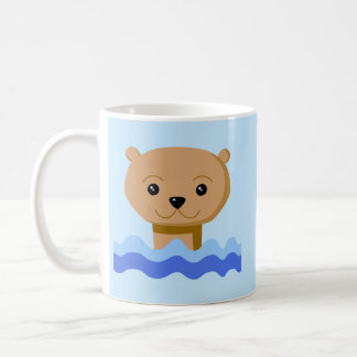 Nutria de la natación tazas de café
